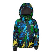 Куртка горнолыжная MAIER 2014-15 03--06 Chris black/green/blue allover (чёрный)