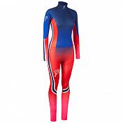 Комплект беговой Bjorn Daehlie RACESUITS Racesuit DEFENDER 2 - PIECE Women Blue/Red/Pink Fading (Синий/Красный)