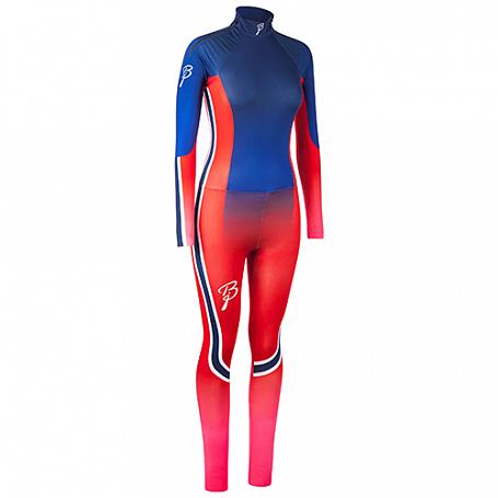 Купить Комплект беговой Bjorn Daehlie RACESUITS Racesuit DEFENDER 2 - PIECE Women Blue/Red/Pink Fading (Синий/Красный), Одежда лыжная, 1102563