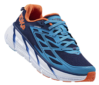 Беговые кроссовки Hoka 2017 M CLIFTON 3 MEDIEVAL BLUE / RED ORANGE
