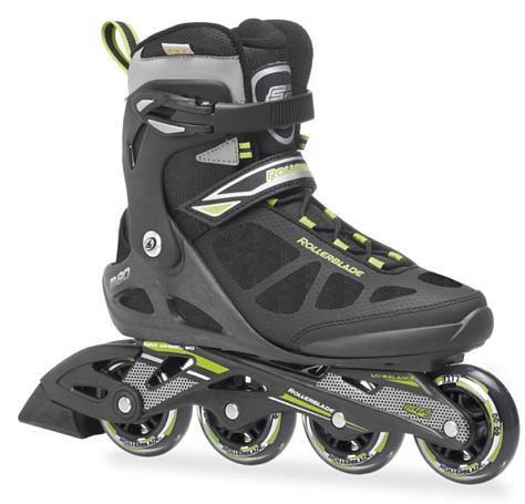 Купить Роликовые коньки Rollerblade 2014 MACROBLADE BLACK/GREEN, Ролики взрослые, 1076262