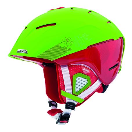 Купить Зимний Шлем Alpina FREERIDE CHEOS green-red matt Шлемы для горных лыж/сноубордов 1131147
