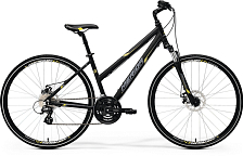 Велосипед MERIDA Crossway 15-MD-Lady 2017 Matt Black - Yellow/Grey