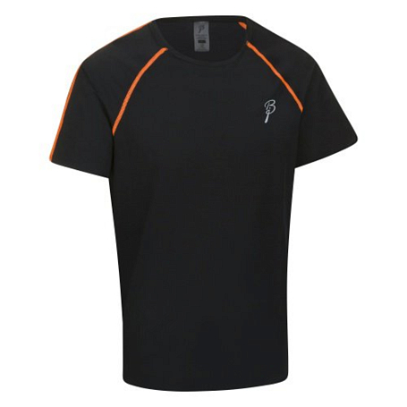 Футболка беговая Bjorn Daehlie T-Shirt MOMENTUM 99949 (black/shocking orange) черн/оранж