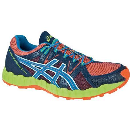 Купить Беговые кроссовки для XC Asics 2013 GEL-FujiTrainer 2 Неоново-оранжевый/Голубой/Синий, Кроссовки бега, 903522