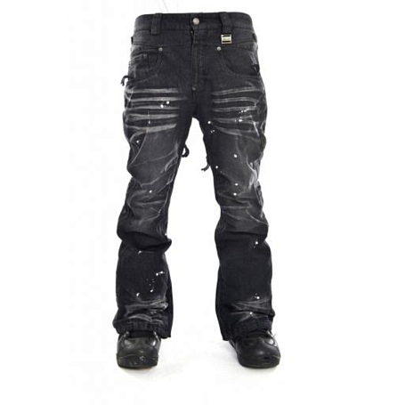Купить Брюки сноубордические I FOUND 2014-15 ROCKSTAR PANTS - SLIM FIT DARK BLACK/NOIR FONCE Одежда сноубордическая 1140727