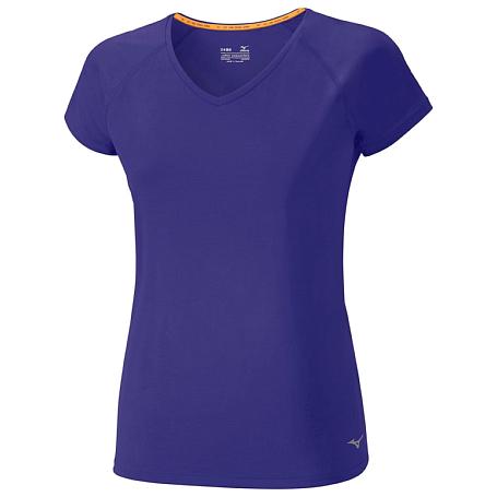 Купить Футболка беговая Mizuno 2017 Active Tee фиолет, Одежда для бега и фитнеса, 1334690