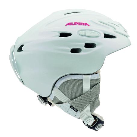 Купить Зимний Шлем Alpina ALL MOUNTAIN SCARA pearlwhite-pink silk matt, Шлемы для горных лыж/сноубордов, 1131058