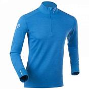 Футболка с дл. рукавомОдежда для бега и фитнеса<br>Мужская футболка с длинным рукавом и воротником-стойкой на молнии для тренировок в холодное время года<br> <br> -эффективно отводит влагу и позволяет коже дышать, сохраняя тепло.&amp;nbsp;<br> -комфортно облегает и не сковывает движения.&amp;nbsp;<br> -состав: внешняя сторона — 100% мериносовая шерсть,&amp;nbsp;<br> &amp;nbsp;внутренняя сторона — 15% мериносовая шерсть, 85% Coolmax.