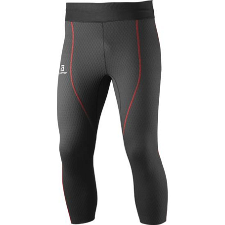 Тайтсы 3/4 беговые SALOMON 2015 EXO PRO 3/4 TIGHT M BLACK