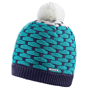 Шапка SALOMON 2016-17 POLY BEANIE NIGHT GR/WH/TEAL BLUE