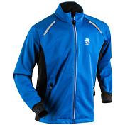 Куртка беговаяОдежда для бега и фитнеса<br>Эластичная куртка для тренировок<br> <br> -ткань SoftShell тянется в 4 направлениях<br> -вентиляция на спине<br> -светоотражающие элементы<br> -карманы для рук на молнии<br> -эластичные манжеты<br>