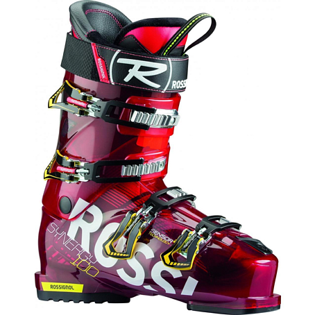 Горнолыжные ботинки ROSSIGNOL 2014-15 ALL MUONTAIN SYNERGY SENSOR2 100 RED TRANSP