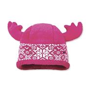 ШапкаГоловные уборы<br>Теплая флисовая шапка с декоративными веселыми рожками. С внутренней стороны шапка полностью флисовая.<br>Состав: 50% мериносовая шерсть, 50% акрил<br>Цвет: розовый