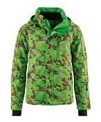 Куртка горнолыжнаяОдежда горнолыжная<br>Интересная современная интерпретация камуфляжного принта делает эту куртку по-настоящему привлекательной. Водонепроницаемая, ветрозащитная и дышащая мембрана mTEX 10000 и качественный утеплитель гарантируют, что данная модель идеально подходит для катания на лыжах независимо от погоды. Пропитка PFC-free очень экологична. Отличные детали, такие как фиксированная снегозащитная юбка, эластичные внутренние манжеты с прорезями для пальцев и отстегивающийся капюшон, усиливают ее функциональные особенности.<br><br>Пол: Унисекс<br>Возраст: Детский<br>Вид: куртка