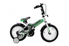 ВелосипедДо 6 лет (колеса 12-18)<br>Велосипед, предназначенный для детей в возрасте от 3.5 до 6 лет, без переключения передач. Технические особенности: прочная стальная рама, жесткая стальная вилка, одинарные обода, передний тормоз - ручной, задний - ножной, высокий руль с накладками, короткие стальные крылья, звонок, защитные пластиковые щитки на раме. Все детали велосипеда прошли тщательную проверку на безопасность и полностью отвечают европейским стандартам качества.<br><br>&amp;nbsp;&amp;nbsp;Диаметр колес 16 дюймов, вес - 11.6 кг.<br><br>Пол: Унисекс<br>Возраст: Детский