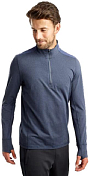 Толстовка беговая Saucony 2020-21 Challenge Quarter Zip Mood Indigo Heather