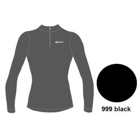 Купить Футболка с длинным рукавом ACCAPI TECNOSOFT PLUS LONG SL.T-SHIRT 1/2 ZIP MAN (black) черный Термобелье 802341