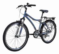 ВелосипедКолеса 26 (стандарт)<br>Лёгкий и практичный горный любительский велосипед Stels Navigator 800 2014 года подарит массу положительный эмоций любителям яркой и активной жизни. В нём есть всё необходимое для путешествий по бездорожью – амортизационная пружинно-эластомерная вилка NEX, SR SUNTOUR с ходом 63мм, 21 скорость, мощные покрышки Kenda K-847, прочная алюминиевая рама, точные ободные механические тормоза. Но о том, что байк Stels Navigator 800 вполне подойдёт и для ежедневного использования в городе, свидетельствует задний багажник и наличие крыльев. Прекрасная модель для всех любителей велотуризма!<br> <br> Рама и амортизаторы<br> <br> Рама: алюминий<br> Вилка: NEX, SR SUNTOUR, ход 63мм<br> <br> Цепная передача<br> <br> Манетки: ST-EF51, SHIMANO, Tourney<br> Передний переключатель: FD-TX51, SHIMANO Tourney<br> Задний переключатель: RD-M360, SHIMANO Acera<br> Шатуны: SR SUNTOUR, сталь, 28/38/48 зубьев<br> Каретка: VP, картридж<br> Количество скоростей: 21<br> Педали: VP, пластик/сталь<br> <br> Колеса<br> <br> Обода: ZAC2000, WEINMANN, алюминий, двойные<br> Bтулка: JOY TECH, алюминий<br> Покрышка: K847, KENDA, 26x1.95<br> <br> Компоненты<br> <br> Передний тормоз: C310, TEKTRO, V-brake<br> Задний тормоз: C310, TEKTRO, V-brake<br> Рулевая колонка: VP<br> Седло: Cionlli<br><br>Пол: Унисекс<br>Возраст: Взрослый