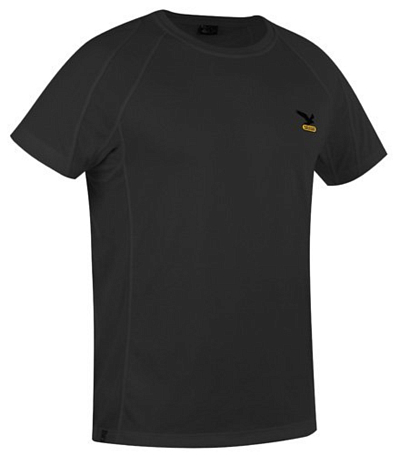 Футболка для активного отдыха Salewa Logo Collection *SPORTY DRY M S/S TEE black (черный)
