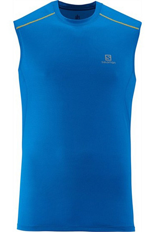 Купить Майка беговая SALOMON 2014 TRAIL RUNNER TANK M UnionBlue, Одежда для бега и фитнеса, 1133640