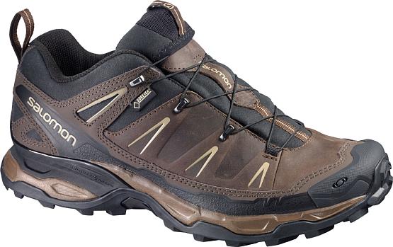 Купить Ботинки для хайкинга (низкие) SALOMON 2017 SHOES X ULTRA LTR GTX BR/BK/Navajo, Треккинговая обувь, 1242124