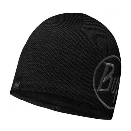 Купить Шапка BUFF ACTIVE COLLECTION KNITTED & POLAR HAT SOLID LOGO BLACK Банданы и шарфы Buff ® 1263146