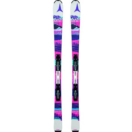 Купить Горные лыжи с креплениями ATOMIC 2014-15 Junior&Kids VANTAGE GIRL III & XTE 7 white/pink 1140246