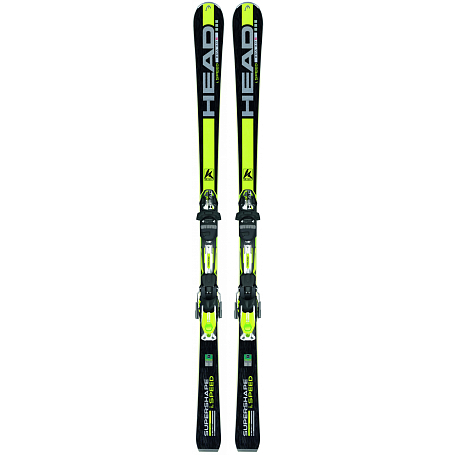 Горные лыжи с креплениями HEAD 2014-15 Supershape iSupershape Speed SW  TFB PR + PRD 14  S BR.80F black/yellow