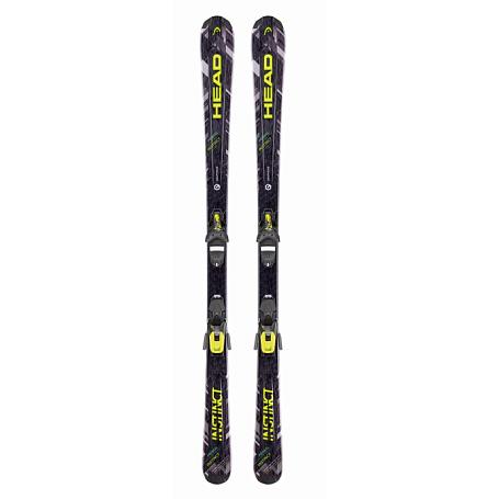 Купить Горные лыжи с креплениями HEAD 2016-17 Primal Instinct SLR2 +SLR 10 BRAKE 78 H black/neon yellow, лыжи, 1286915