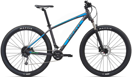 Купить Велосипед Giant Talon 29 2 GE 2020 Charcoal/Blue: цена 45900  руб, отзывы на КАНТе