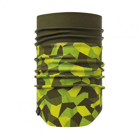 Купить Шарф BUFF WINDPROOF NECKWARMER BLOCK CAMO GREEN Банданы и шарфы Buff ® 1308012