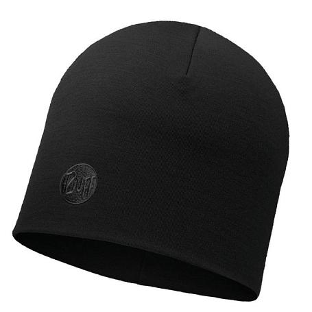 Купить Шапка BUFF HEAVYWEIGHT MERINO WOOL HAT SOLID BLACK, Головные уборы, шарфы, 1228015