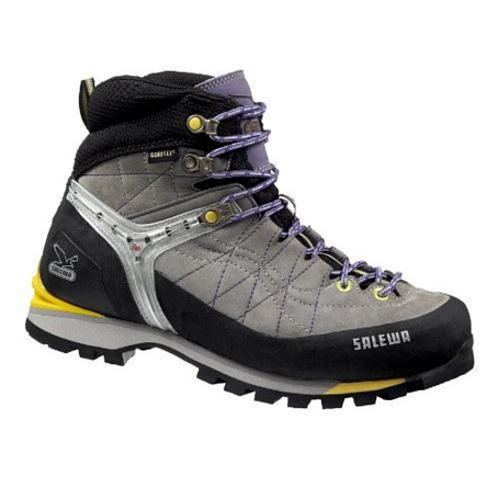 Ботинки для альпинизма Salewa Mountaineering Womens WS RAPACE GTX grey-yellow