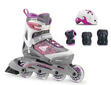 Роликовые коньки Rollerblade 2018 CUBE G WHITE/PURPLE