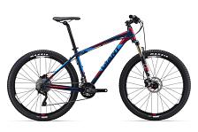 ВелосипедКолеса 27,5<br>Уровень: Спортивный<br>Пол: Мужской, Женский, Универсальный<br>Назначение: Кросс-кантри<br>Материал рамы: Алюминий<br>Рама: Алюминиевый сплав<br>Тип рамы: Хардтейл<br>Вилка: Fox 32 Float Performance, 100mm travel, FIT4 Damper, 1-1/8 steerer, QR<br>Руль: Giant Connect XC, 19mm rise, 690mm x 31.8mm<br>Вынос: Giant Connect, 8 degree rise<br>Подседельный штырь: Giant Connect, 30.9x375mm<br>Седло: Giant Connect Upright<br>Педали: MTB Caged, 9/16<br>Кол-во скоростей: 20<br>Шифтеры/Манетки: Shimano Deore, 2x10 speed<br>Передний переключатель: Shimano Deore<br>Задний переключатель: Shimano XT &amp;#40;Shadow&amp;#41;<br>Тип тормозов: Дисковые &amp;#40;гидравл&amp;#41;<br>Тормоза: Shimano M447 [F] 160 [R] 160<br>Тормозные ручки: Shimano M445<br>Кассета: Shimano HG50 11-36, 10-Speed<br>Система/Шатуны: Shimano Deore 24/38t<br>Цепь: KMC X10<br>Каретка: Shimano Hollowtech II<br>Размер колес: 27.5 &amp;#40;650B&amp;#41;<br>Обода: Giant S-XC2 27.5 wheelset<br>Втулки: Giant Tracker Sport, 32H [F] QR [R] QR<br>Спицы: Stainless 14G<br>Покрышки: Maxxis Ikon 27.5x2.2, 60 TPI Wire