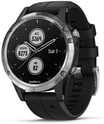 Часы Garmin 2019-20 Fenix 5 Plus GPS Glass Silver w/Black Band