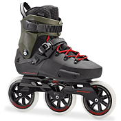 Роликовые коньки Rollerblade 2018 Twister Edge 3Wd Black/Army Green