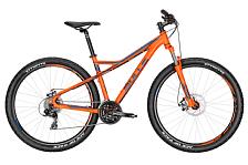 ВелосипедКолеса 29 (найнеры)<br>Горный кросс-кантрийный велосипед, подходящий как начинающим, так и продвинутым поклонникам велосипедного спорта. Отличающаяся от классической рамы геометрия с усиленным треугольником делает велосипед маневренней, а увеличенный по сравнению с прошлой моделью диаметр колес 29 дюймов придает лучший накат при езде. Дисковые механические тормоза и вилка с ходом 100 мм делают эту модель не только надежной, но еще и всесезонной. Стильная и яркая раскраска подчеркивает экстремальный характер этой модели. А отличное соотношение цены и качества порадует самых практичных любителей экстремального катания.<br><br>Группа Sharptail<br>Год 2016<br>Пол Мужской<br>Вид катания Прогулки, Фитнес<br>Условия Грунт, Бездорожье<br>Размер колёс 29<br>Рама велосипеда 7005 Aluminium<br>Вилка SUNTOUR XCM-DS 29, 100mm<br>Тип тормозов Механика диск<br>Количество скоростей 24<br>Передний переключатель SHIMANO, FD-TX50<br>Задний переключатель SHIMANO, RD-TX800, BLACK<br>Манетки JAGWIRE<br>Руль 720mm<br>Обмотка руля / грипсы VELO 125 mm<br>Рулевая колонка 1-1/8 SEMI-INTEGRATED, STEEL BLACK, W/WATER PROOF<br>Вынос AS-601, 31,8 mm<br>Тормозные ручки SHIMANO, ST-EF51A, BLACK, 2-FINGER<br>Передний тормоз TEKTRO, new MD-M300 &amp;#40;NOVELA MD-M311&amp;#41;, MECHANICAL DISC BRAKE, MATT BLACK<br>Задний тормоз TEKTRO, new MD-M300 &amp;#40;NOVELA MD-M311&amp;#41;, MECHANICAL DISC BRAKE, MATT BLACK<br>Передняя втулка FORMULA, DC-19FQR, ALLOY ANODIZED MATT BLACK<br>Задняя втулка FORMULA, DC-25RQR, ALLOY ANODIZED MATT BLACK<br>Обода колес STYX DDM-2<br>Покрышки STYX Ace of Pace 29 x 2,25<br>Цепь KMC, Z-72<br>Система Suntour CW-XCС, 42/34/24T<br>Педали WELLGO, LU-C4S<br>Подседельный штырь aluminium<br>Седло BULLS<br>Модель Sharptail 1 Disc 29 &amp;#40;2016&amp;#41;<br>Размер 16, 18, 20, 22<br>Бренд Bulls<br>Цвет&amp;nbsp;&amp;nbsp;Оранжевый<br><br>Пол: Мужской<br>Возраст: Взрослый