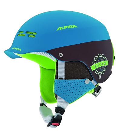 Купить Зимний Шлем Alpina 2015-16 PARK SPAM CAP blue-brown matt Шлемы для горных лыж/сноубордов 1194036