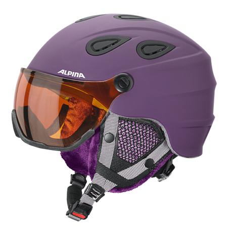 Купить Зимний Шлем Alpina GRAP Visor HM deep-violet matt, Шлемы для горных лыж/сноубордов, 1279942