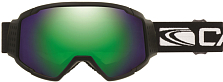 Очки горнолыжные Carve Hyper 6093 Hyper Matt Black, Orange lens, Green Iridium