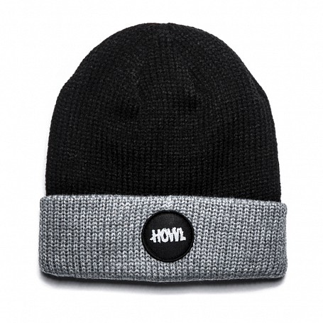 Шапка HOWL 2015-16 CIRCLE PATCH BEANIE HOWL BLACK