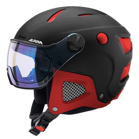 Купить Зимний Шлем Alpina ATTELAS Visor VHM black-red matt Шлемы для горных лыж/сноубордов 1279908