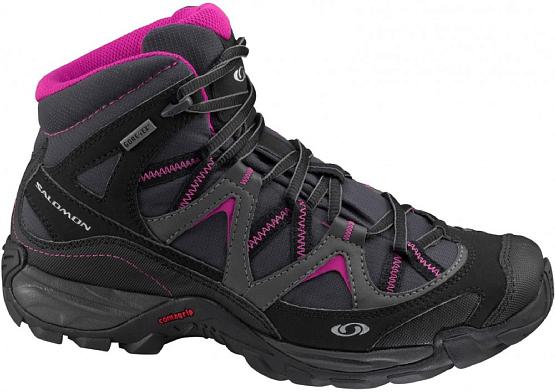 Купить Ботинки городские (высокие) SALOMON VIAGGIO MID GTX W ASPHALT/BLACK Треккинговая обувь 1209820