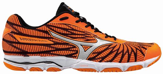 Купить Марафонки Mizuno 2017 WAVE HITOGAMI 4 оранжевый/серебряный/черный / Кроссовки для бега 1334608