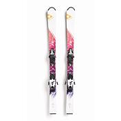 Горные лыжи с креплениямиГорные лыжи<br>Замечательные лыжи начального уровня для развлечений и приключений.<br><br>Ростовки &amp;#40;см&amp;#41;: 130<br>Целевая группа: Начинающие<br>Тип: детские<br><br>Особенности крепления FJ7 AC SLR BRAKE 78 [H]:<br>Z-DIN: 2-7,5<br>FRP - четыре ролика и пластина обеспечивают четкое освобождение ботинка при срабатывании креплений.<br>AFS - адаптер обеспечивает высокий уровень безопасности при срабатывании передней головки креплений.<br><br>Технологии:<br>Air Power - сердечник с малой плотностью. Снижение веса лыж означает более легкое управление и уменьшение затрат энергии лыжником.<br>Fiber Tech - специальное плетение стекловолокна со сбалансированными свойствами прогиба. Отличные характеристики в момент поворотов<br>On-Piste ROCKER - ранний подъем носка лыжи обеспечивает лучшее поведение в целине и дополнительную манёвренность на подготовленном склоне. Пять видов рокера: All Mountain ROCKER, Freeski ROCKER, Tour ROCKER, On Piste ROCKER, Hybrid ROCKER.<br>Extruded Bases - экструдированный материал скользящей поверхности великолепно работает в самых жестких условиях эксплуатации, но не способен также хорошо удерживать мазь, как синтерированный материал