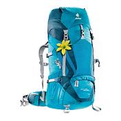 РюкзакРюкзаки туристические<br>Эти спортивные техничные рюкзаки с их минимальным весом и продуманной конструкцией являются надежными спутниками в любом походе. Верхний клапан с двойными пряжками и эластичный фронтальный карман расширяют возможности размещения груза. Фронтальные петли позволяют закрепить походный коврик снаружи. Обтекаемый корпус рюкзака и компактный набедренный пояс не стесняют движений в походах и восхождниях. SL-модели, благодаря зауженным плечевым лямкам с мягкими краями, обеспечивают людям невысокого роста комфорт переноски груза.<br><br>-Эластичный фронтальный карман<br>-Компактный многослойный набедренный пояс с затяжкой pull-forward облегчает затяжку даже под нагрузкой<br>-Лямки анатомической формы с мягкими краями<br>-Легкий перфорированный алюминиевый Х-каркас<br>-Карман для ценных вещей в клапане<br>-Петли для снаряжения на клапане <br>-Отдельный нижний отсек<br>-Внутренний карман для мелких вещей Боковые сетчатые карманы<br>-Петли для ледоруба Боковые эластичные карманы<br>-Компрессионные стропы и стропы регулировки нагрузки<br>-Двухслойное дно<br><br>Вес: 1690г<br>Объем: 45 &amp;#43; 10 л<br>Размеры: 75 х 30 х 25 см<br>Материал: 35% полиэстер, 65% нейлон<br>Deuter-Super-Polytex. Deuter-Ripstop 210. Macro Lite 210<br>Конструкция спины: Deuter Aircontact System<br>Лучший способ переноски тяжелых грузов — объединить рюкзак и Ваше тело в одно целое. Именно по такому принципу устроены наши треккинговые рюкзаки системы Aircontact: система контакта с телом обеспечивает идеальную устойчивость, точное распределение веса и эффективную вентиляцию. При каждом движении эффект насоса вызывает циркуляцию воздуха через специальную пену с порами в подушках Aircontact. Воздушные каналы между подушками усиливают действие вентиляции. Системы Aircontact и Aircontact Pro с гибкими набедренными крыльями пояса Vari Flex обеспечивают удобную посадку рюкзака и экономят силы. Это особенно важно при переноске тяжелых грузов.<br>Pезультат: снижение потоотделения на 