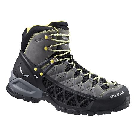 Купить Ботинки для треккинга (высокие) Salewa 2015 Hike Approach Mens MS ALP FLOW MID GTX Smoke/Yellow /, Треккинговые ботинки, 1157999