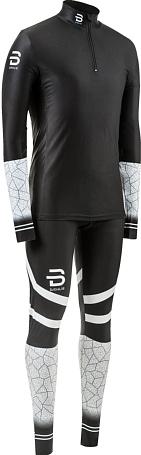 Комплект беговой Bjorn Daehlie 2018-19 Racesuit 2-piece Nations 3.0 M раздельный гоночный Black/White - купить в КАНТе